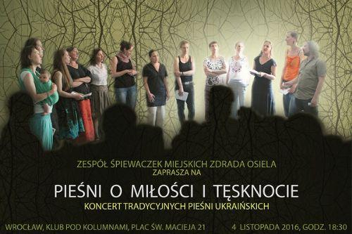 Tradycyjne pieśni ukraińskie w Klubie Pod Kolumnami