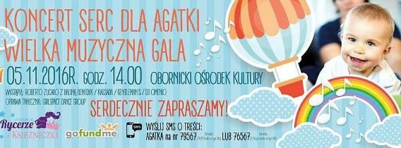 Koncert Serc dla Agatki – impreza charytatywna