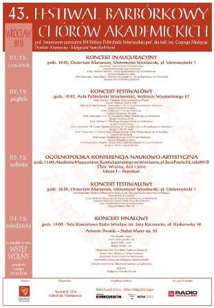 Festiwal Barbórkowy Chórów Akademickich