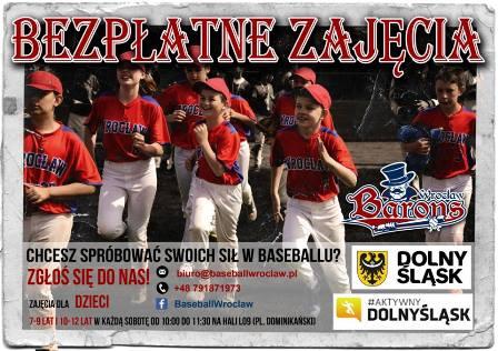 Bezpłatne zajęcia z baseballa dla dzieci i młodzieży