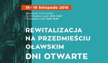 Rewitalizacja na Przedmieściu Oławskim – dni otwarte