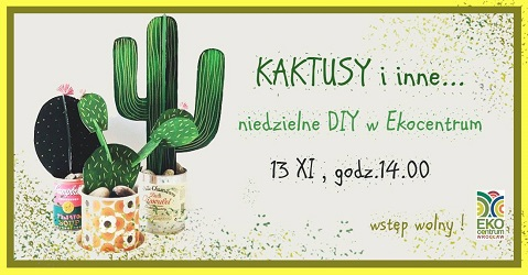 Kaktusy i inne urwisy - niedzielne DIY w Ekocentrum