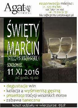 Święty Marcin- wieczór win morawskich