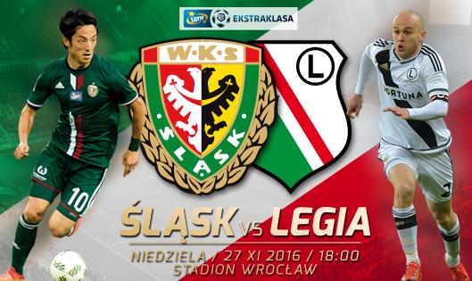 Mecz WKS Śląsk Wrocław z Legią Warszawa