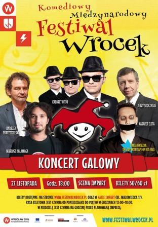 Mistrzowie kabaretu na gali Festiwalu Wrocek
