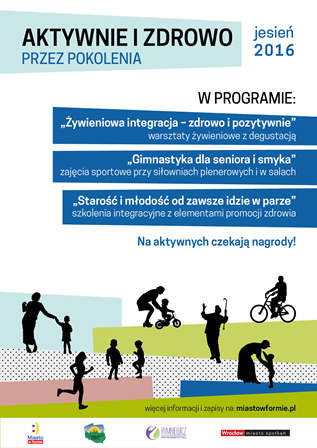 Bezpłatne treningi międzypokoleniowe i warsztaty integracyjne