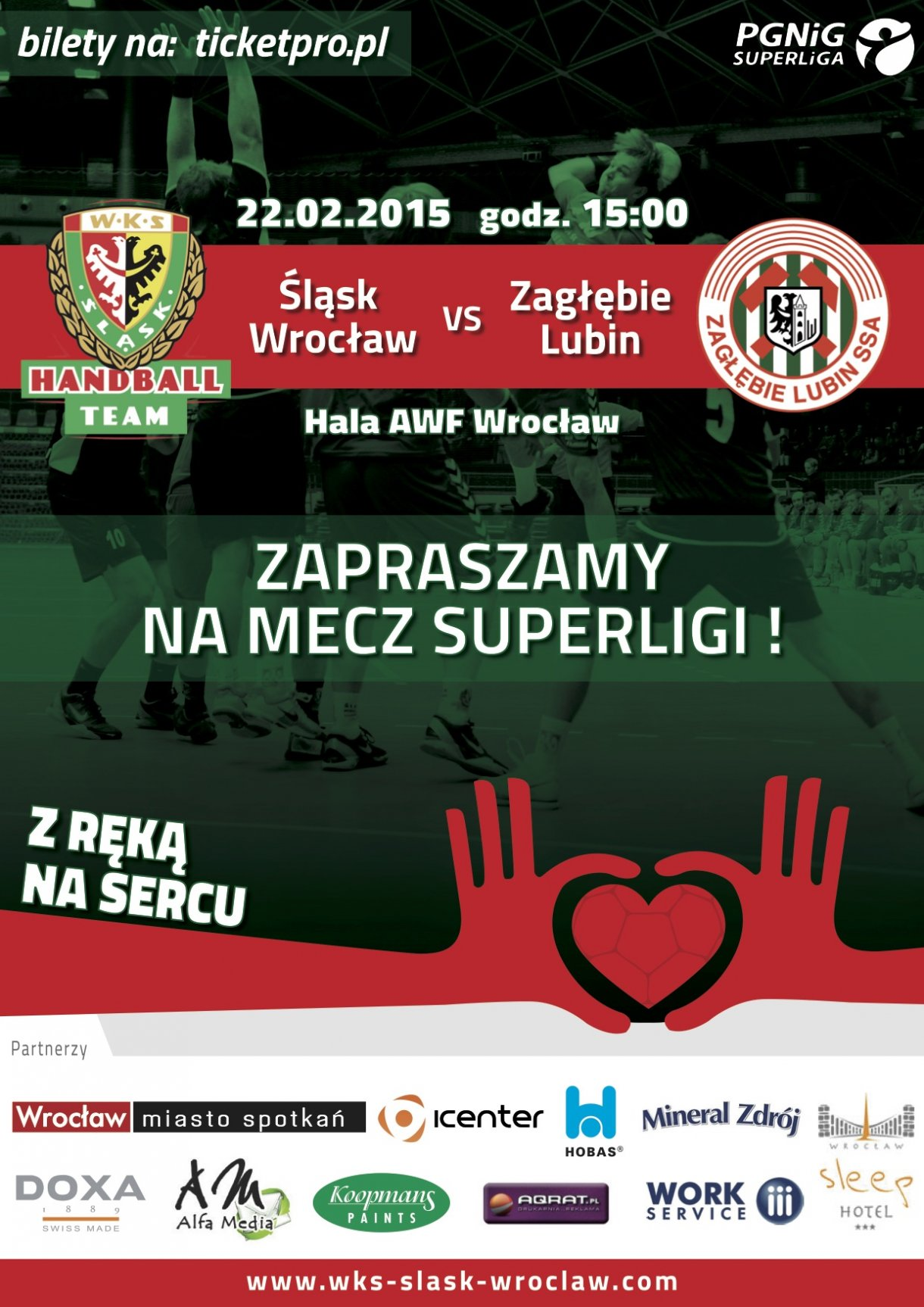 Mecz ekstraklasy piłkarzy ręcznych - Śląsk Wrocław - Zagłębie Lubin