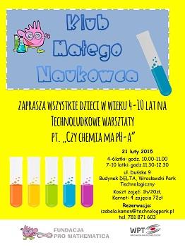 Zajęcia weekendowe w Centrum Edukacyjnym Technoludek - Klub Małego Naukowca