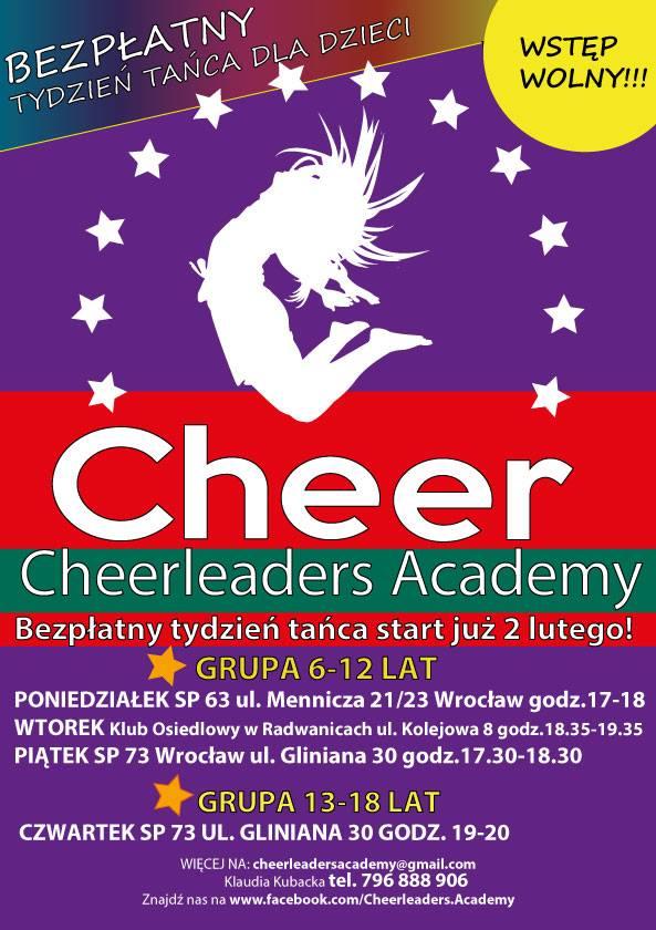 Bezpłatny Tydzień Tańca w Cheerleaders Academy! 2.02-6.02.2015