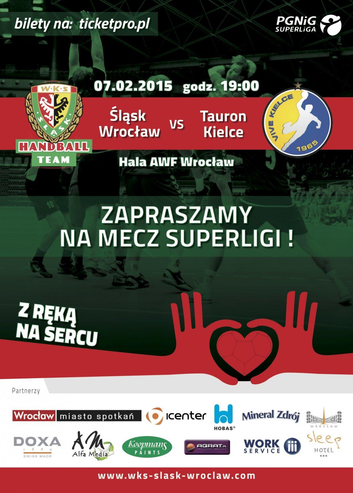 Mecz ekstraklasy piłkarzy ręcznych - Śląsk Wrocław - Vive Kielce