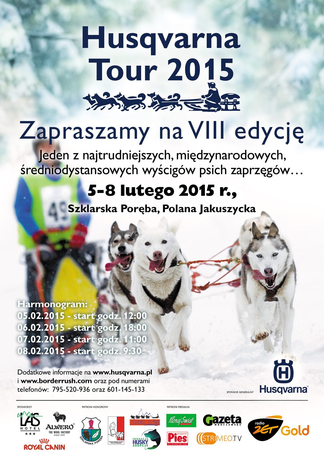 Husqvarna Tour 2015 - wyścigi psich zaprzęgów