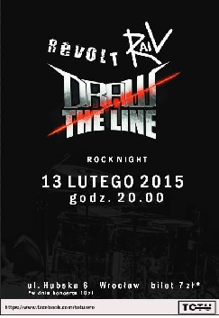 Koncert Rock Night | Revolt + Rail + Draw The Line