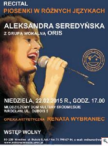 Recital Piosenki w Różnych Językach - Aleksandra Seredyńska