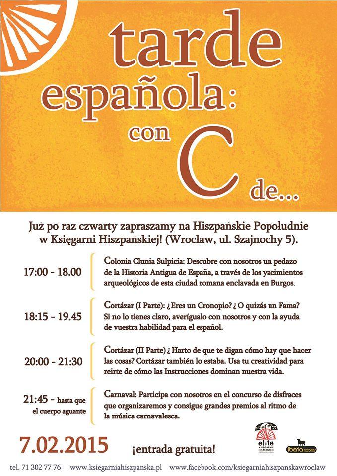 TARDE ESPAÑOLA!  z motywem przewodnim... literą C!