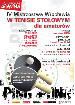 Mistrzostwa Wrocławia w Tenisie Stołowym dla amatorów