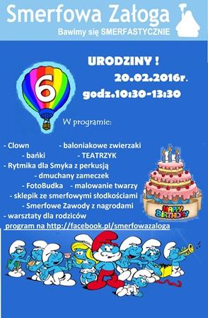 Smerfowe urodziny – impreza dla dzieci w Leśnicy