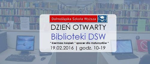 Kiermasz książek i DZIEŃ OTWARTY Biblioteki DSW