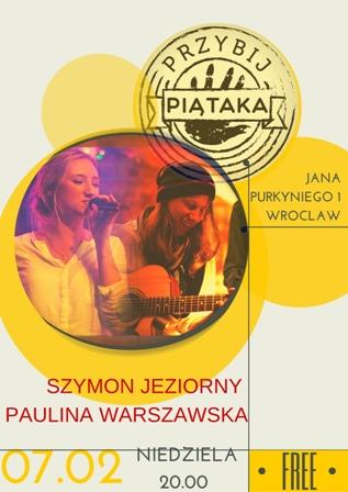 Szymon Jeziorny & Paulina Warszawska: koncert