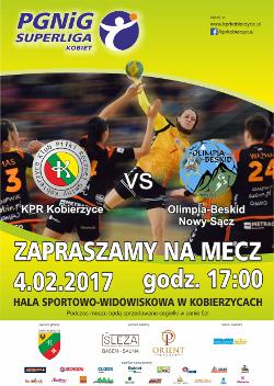 Mecz superligi piłki ręcznej kobiet KPR Kobierzyce - Olimpia Beskid Nowy Sącz