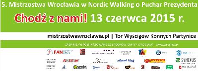 Oficjalne przejście trasy 5. Mistrzostw Wrocławia w Nordic Walking
