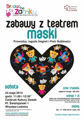 Spotkanie z maskami teatralnymi dla najmłodszych w Centrum Kultury ZAMEK