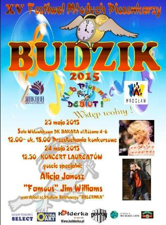 XV Festiwal Młodych Piosenkarzy BUDZIK 2015