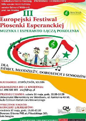 III Europejski Festiwal Piosenki Esperanckiej