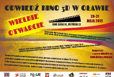 Wielkie otwarcie KINA ODRA w Oławie - weekendowy maraton filmowy