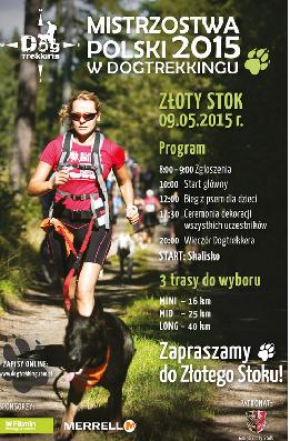 Zawody Pucharu Polski  w Dogtrekkingu 2015 w Złotym Stoku