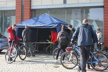 Znakowanie rowerów w Pasażu Grunwaldzkim