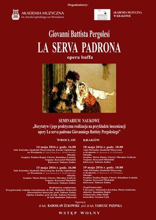 """La serva padrona"" Giovanniego Battisty Pergolesiego – opera buffo"