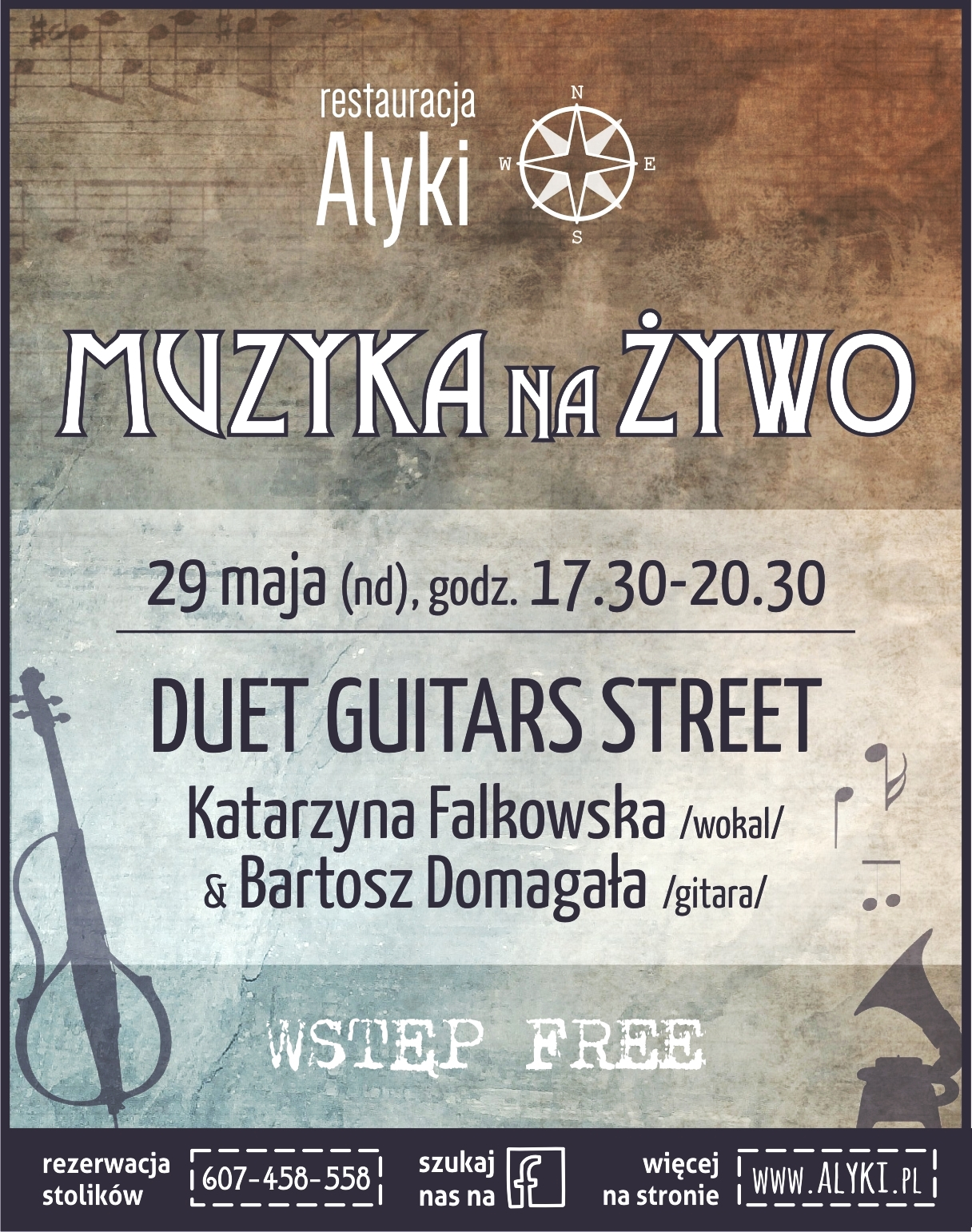 Duet Guitars Street w restauracji Alyki Sky Tower