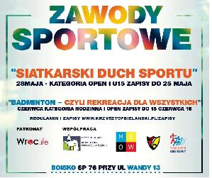 Otwarte zawody sportowe – siatkówka i badminton