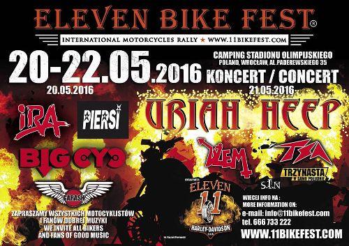 Zlot motocyklowy – Eleven Bike Fest 2016,