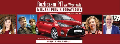 """Miejski piknik podatkowy 2016 – finał loterii """"Rozlicz PIT we Wrocławiu"""""""