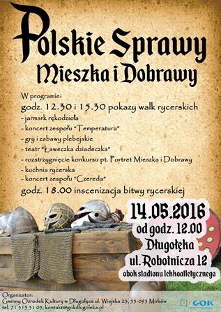 Polskie Sprawy Mieszka i Dobrawy – piknik rycerski w Długołęce