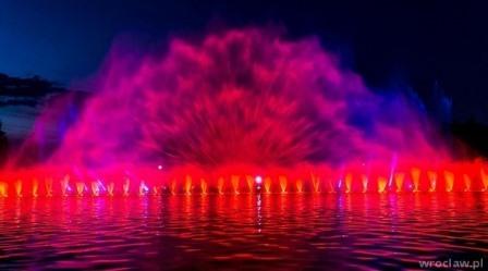 Specjalne pokazy fontanny multimedialnej