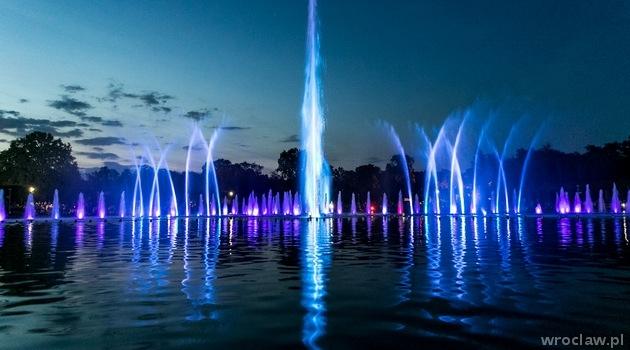 Wrocławska fontanna multimedialna – pokazy specjalne
