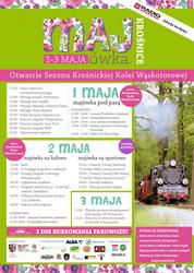 Majówka w Krośnicach i otwarcie sezonu wąskotorówki