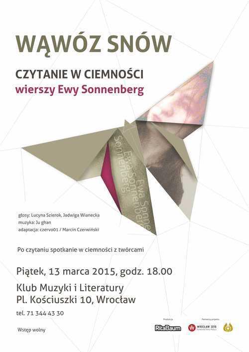 WĄWÓZ SNÓW - czytanie w ciemności wierszy Ewy Sonnenberg
