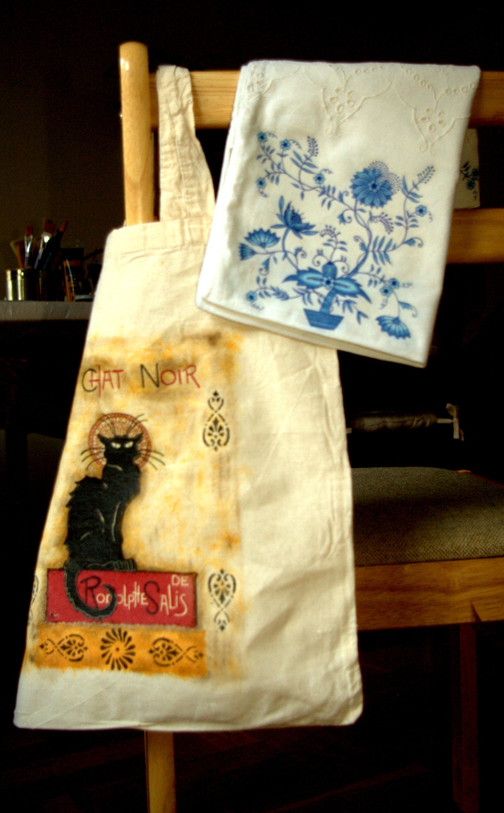 Warsztaty decoupage na tkaninie: torba, poszewka, aplikacja