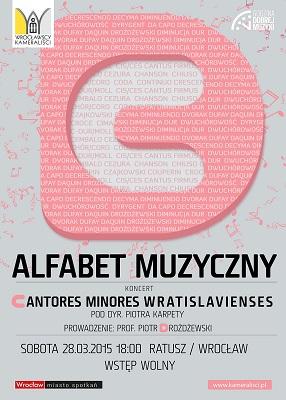 """Koncert z cyklu """"Alfabet muzyczny – litery C i D""""  w wykonaniu Cantores Minores Wratislavienses"""