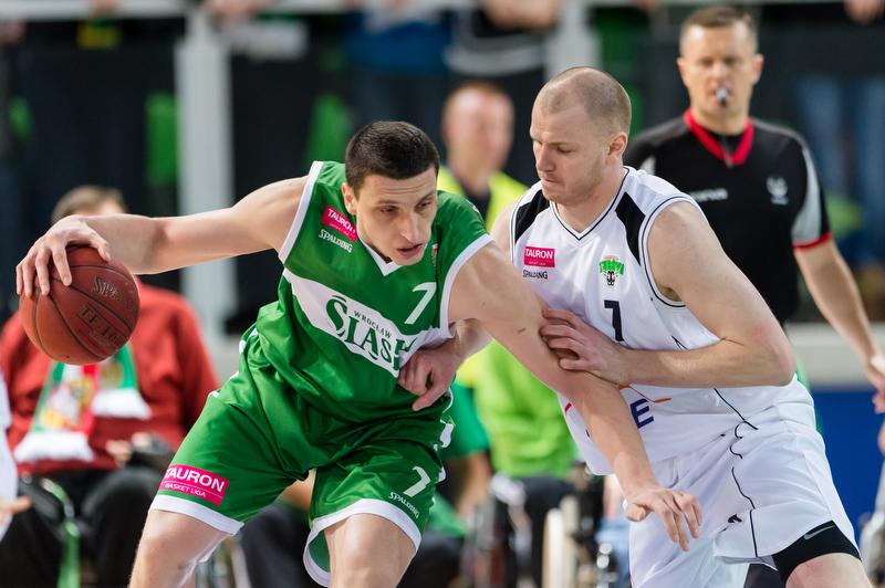 Mecz ekstraklasy koszykarzy - Śląsk Wrocław - Rosa Radom