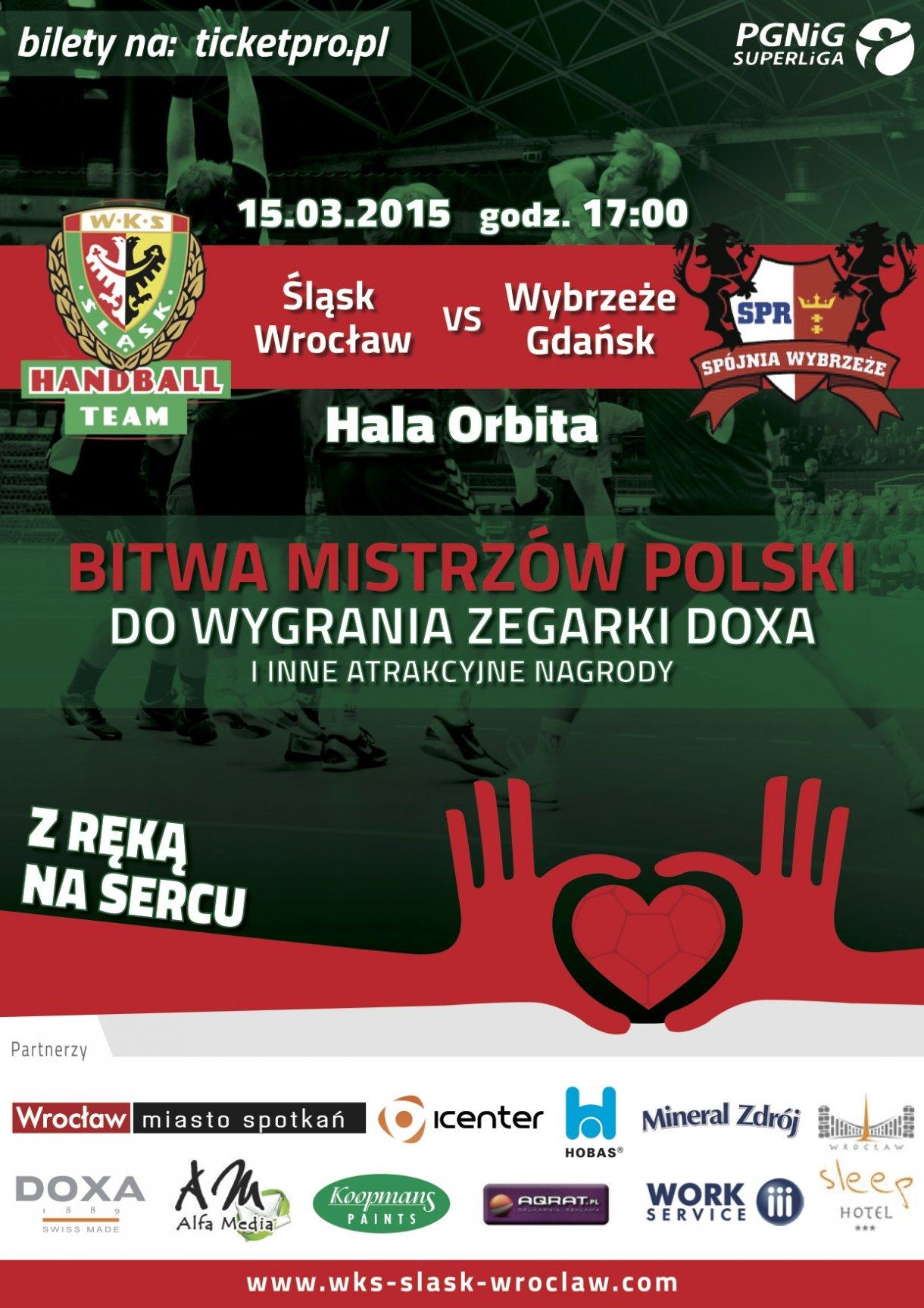 Mecz ekstraklasy piłkarzy ręcznych - Śląsk Wrocław - Wybrzeże Gdańsk