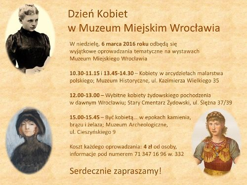 Dzień Kobiet w Muzeum Miejskim Wrocławia