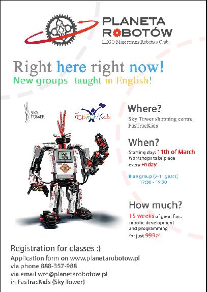 Warszaty LEGO w języku angielskim