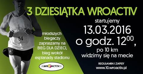 """Bieg """"Dziesiątka Wroactive"""" na Stadionie Wrocław"""