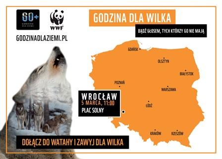 Zawyj dla wilka – akcja społeczna na placu Solnym