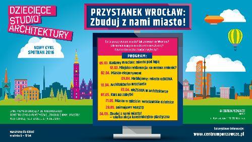 Dziecięce Studio Architektury – Badamy Wrocław: miasto pod lupą