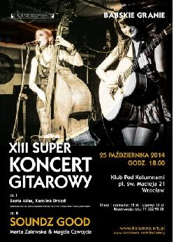 Babskie granie - XIII superkoncert gitarowy